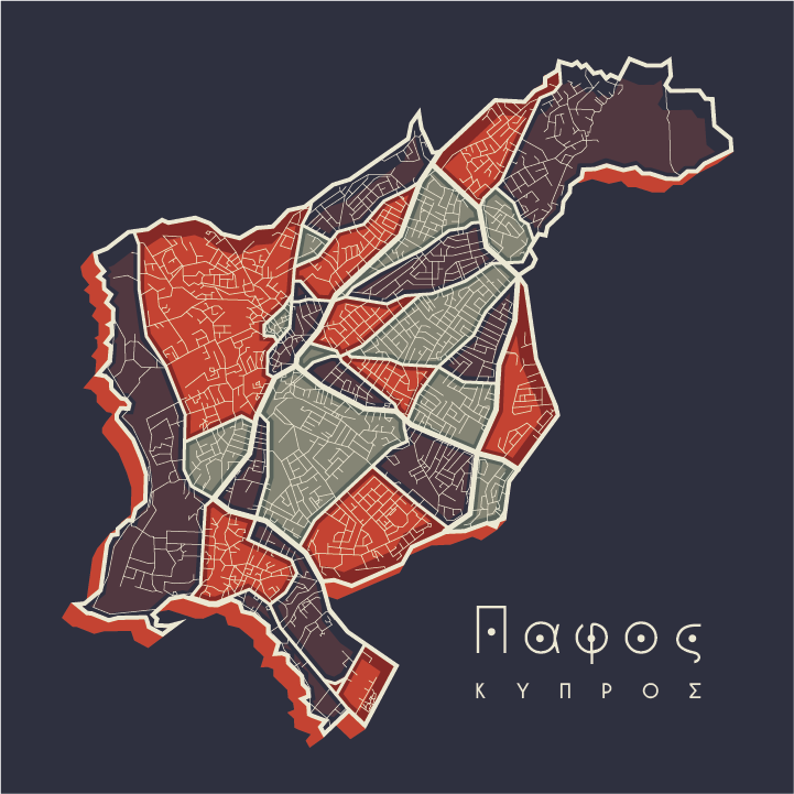 Paphos - Satellite map - 04